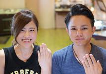 外山様 (Pt/グレーG ダイヤとハンマーの結婚指輪)