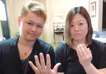 白井裕也・鶴田奈緒様 (PG/Pt マットな凹凸の結婚指輪)