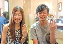 T様 (桜G 鍛造ストレート結婚指輪)