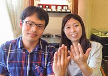 K様 (YG/Pt 絆のロープ&ミル打ち結婚指輪)