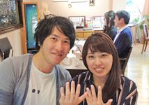 M様 (Pt 指の美しさを引き立てるシンプルな結婚指輪)