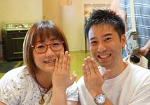 堂元孝修・美佐様 (Pt950 栄光・勝利を表す月桂樹彫刻の結婚指輪)