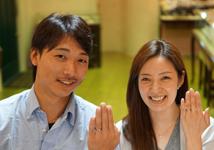 中上彰夫・麻奈実様 (桜G/グレーG シルクラインの鍛造結婚指輪)