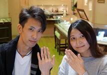 藤本様 (Pt 光沢感の変化が美しい結婚指輪)