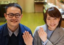 清水開・大原景様 (YG/Pt 自然な凹凸感と肌触りの結婚指輪)